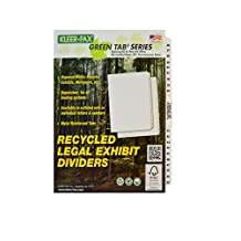 Kleer-Fax Legal-Size Index Dividers, Collated Numbered Sets, Side Tab, 1/25th Cut, 1 Set Per Pack, White, 26-50 Plus Table of Contents (81473)