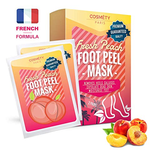 Premium Foot Peeling Mask by Cosmety Paris - 2 Pairs - Removes Callus, Hard, Dead and Dry Skin of The Feet; Baby (Spa Treatments Paris)