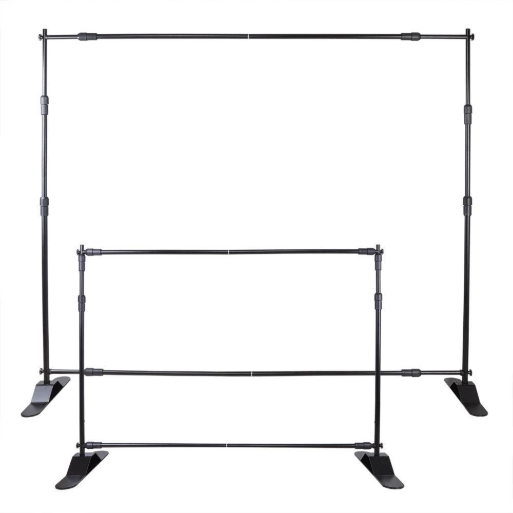 VEVOR 10' Banner Stand Adjustable Display Backdrop Lightweight Portable Trade Show Wall for Photography(10' Banner Stand)