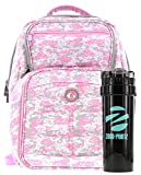 laptop cooler pink - 6 Pack Fitness Expedition Backpack W/ Removable Meal Management System 300 Pink & Grey Digital Camo w/ Bonus ZogoSportz Cyclone Shaker