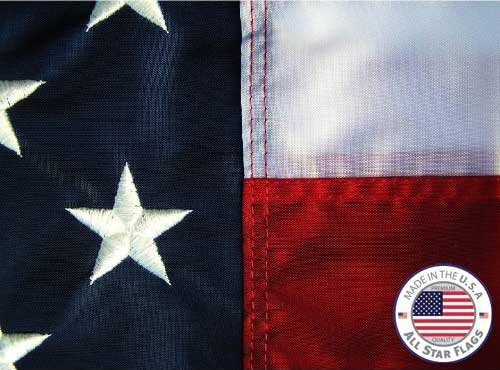 Premium American Flag 3x5' - 100% Made in the USA - Durable, Long Lasting, Bright & Vivid Nylon Material - Densely Embroidered Stars, Sewn Stripes with Lock Stitching, Four Rows - Online Usa Store In