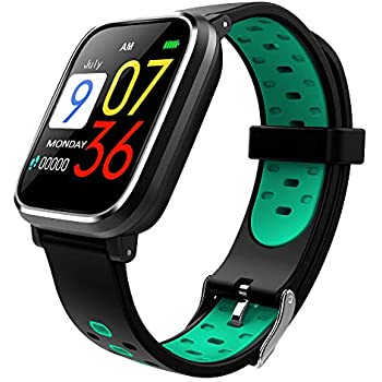 Bluetooth Smart Watch:All-Day Heart Rate and Activity Tracking, Sleep Monitoring, GPS, Ultra-Long Battery Life, Bluetooth, (Black-Blue)