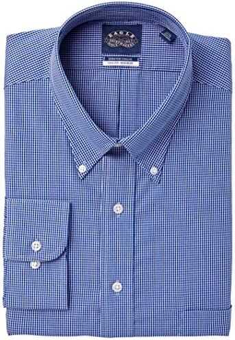 Eagle Men`s Fit Dress Shirts Non Iron Stretch Collar Check (Big and Tall)