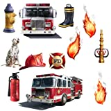 RoomMates RMK1125SCS Fire Brigade Peel and Stick Wall Decal