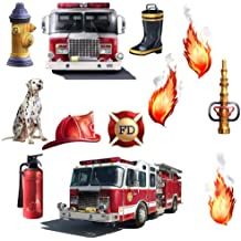 RoomMates RMK1125SCS Fire Brigade Peel & Stick Wall Decal