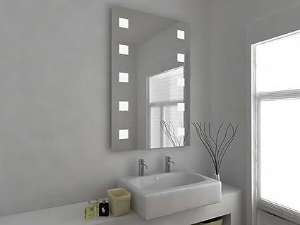 Specchio da bagno design moderno con luci led molto luminose