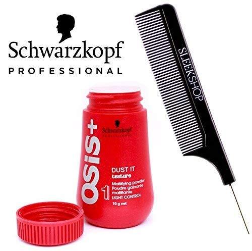 Schwarzkopf OSiS Dust It - Mattifying Powder (with Sleek Steel Pin Tail Comb)(0.35 oz)