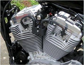 Kit de soporte negro de bobina de encendido para Harley Davidson Sportster 883 XL y 1200