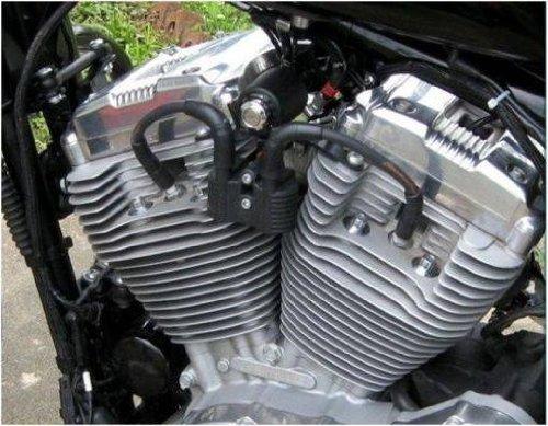 Kit de soporte negro de bobina de encendido para Harley Davidson Sportster 883 XL y 1200, Iron, Custom, Roadster, Superlow, Forty Eight y Nightster: ...