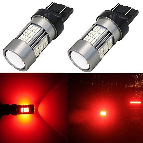 Alla Lighting 7443 LED Bulbs Super Bright T20 Wedge LED 7440 7443 Bulb 54-SMD High Power 4014 Chipsets LED W21W 7443 7440 Red Turn Signal Brake Stop Tail Light Lamp Bulbs Replacement (Set of 2)