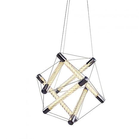 Spiro polígono Tubular cromado - lámpara de techo LED ...