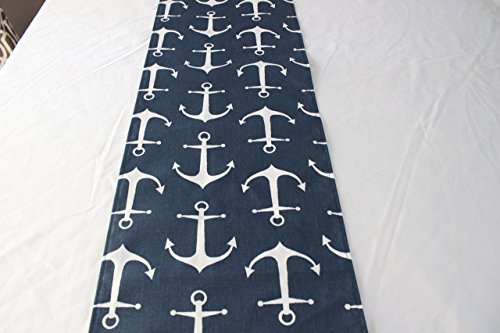 12x36 inches Navy anchor nautical wedding baby shower table runner