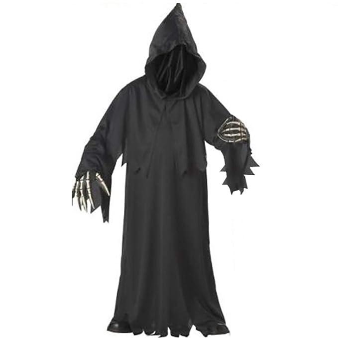 HALLOWEEN-THE BLACK MONK Men/'s Fancy Dress Costume with Cross /& Belt All Sizes