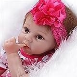 Baby Silicone Reborn Best Deals - SanyDoll Reborn Baby Doll Soft Silicone vinyl 22inch 55cm Lovely Lifelike Cute Baby Boy Girl Toy Beautiful princess dress