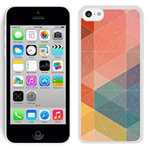New Beautiful Custom Designed Cover Case For iPhone 5C With Pastel Polygon Pattern Abstract (2) Phone Case