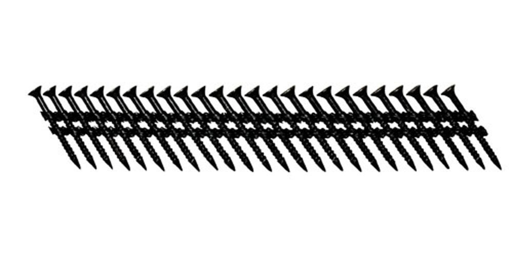 Fasco SCPS413FPFCB Scrail Fastener Fine Thread 30-33-Degree Plastic Strip Black Fascoat for ACQ  Phillips Drive, 1.5-Inch x .113-Inch 930 Per Box