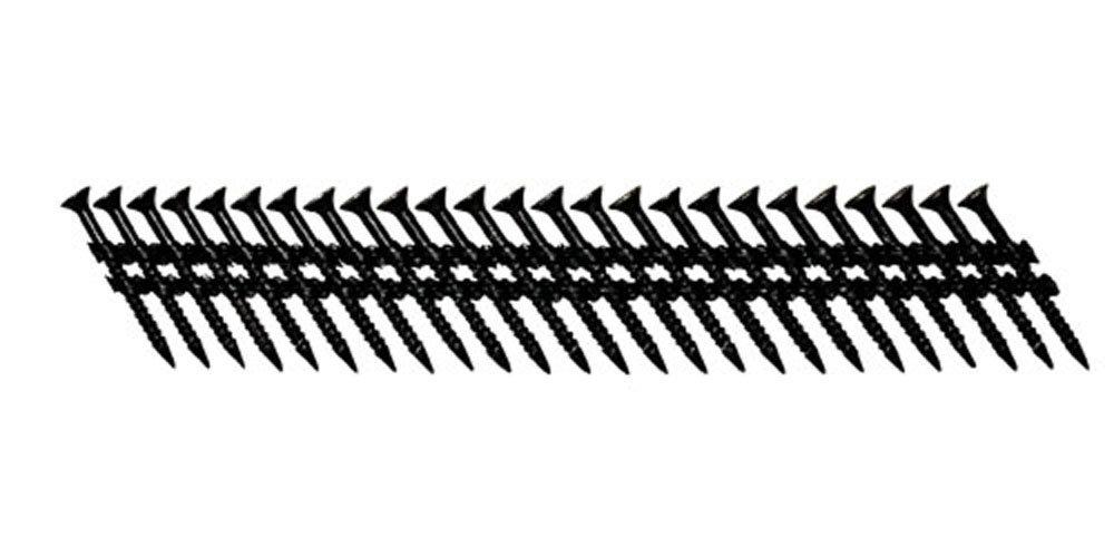 Fasco SCPS413FPFCB Scrail Fastener Fine Thread 30-33-Degree Plastic Strip Black Fascoat for ACQ  Phillips Drive, 1.5-Inch x .113-Inch 930 Per Box by Fasco (Image #1)