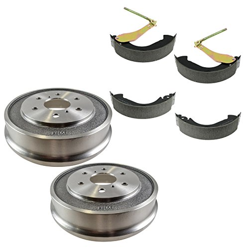 Brake Chevy Drum (Rear Brake Drum & Shoe Kit Sides for Chevy Silverado 1500 Silverado 1500 Classic GMC Sierra 1500 Sierra 1500 Classic)
