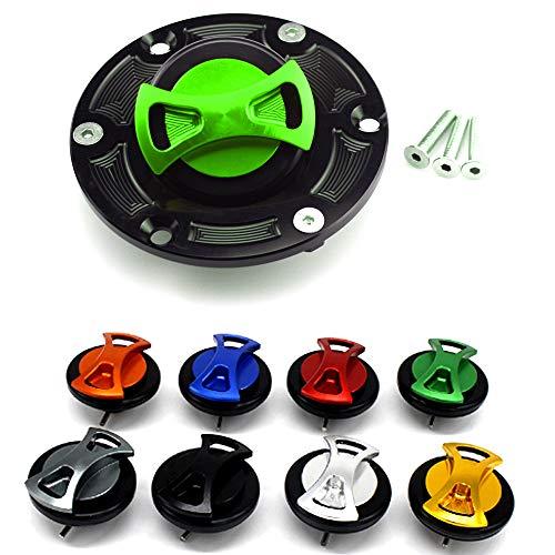 (CNC Aluminum Billet Keyless Twist off Gas Fuel Tank Cap Cover For Aprilia RS125 / RS250 / RSV1000 Mille 98-03 / Shiver 750 / Tuono 1000 03-04)