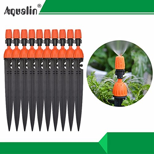 - 10 Pcs.Multifunctional Adjustable 8 Outlets Spray Dripper Irrigation Sprinklers Watering kits Drip Irrigation System