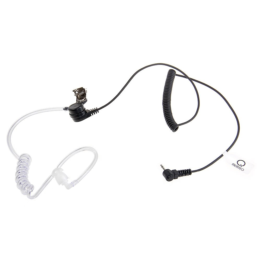 2.5mm Covert Listen Only Clear Acoustic Tube Earpiece 1-PIN Earbud for Ham Radio