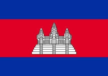 Bandiera Della Cambogia Miglior Portafoto Colore Unico Stampa A4