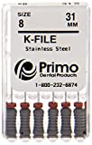 Primo Dental Products EFK3108 K-File, 31 mm, 08 (Pack of 6)