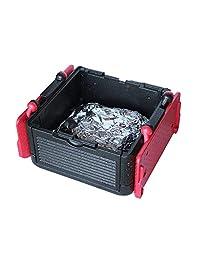 Con tapa Caja grande caja de aislamiento/refrigerador (rojo) – plegable, peso ligero, para alimentos – Ideal para picnics, alimentos, Parrilladas, Camping