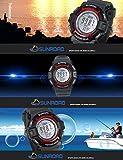 Sunroad Digital LED Watch Men Sports Watches Waterproof Fishing Barometer Altimeter Thermometer Watch Male Clock Deportivo