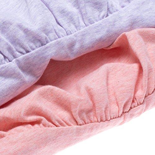 Intimate Portal Women Anti Chafing Maternity Pregnancy Boyshort Brief 2-Pk Pink Purple L by Intimate Portal (Image #5)