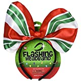 Holiday Christmas 10' Light Up Bow Party Accessory Headband - Peppermint