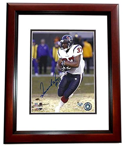 Dominick Davis Signed - Autographed Houston Texans 8x10 inch Photo MAHOGANY CUSTOM FRAME