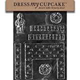 Dress My Cupcake DMCC017SET Chocolate Candy Mold, Fireplace Christmas, Set of 6