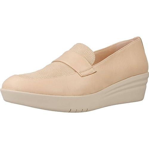 Mocasines para Mujer, Color Hueso, Marca MIKAELA, Modelo Mocasines para Mujer MIKAELA 17075 Hueso: Amazon.es: Zapatos y complementos