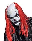 Fun World  Creepy Clown Wig Accessory, -red, standard