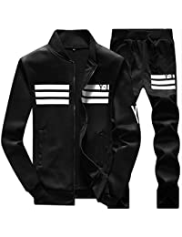 Men's Athletic Tracksuit Full Zip Warm Sports Sets Jogging Sweat Suits