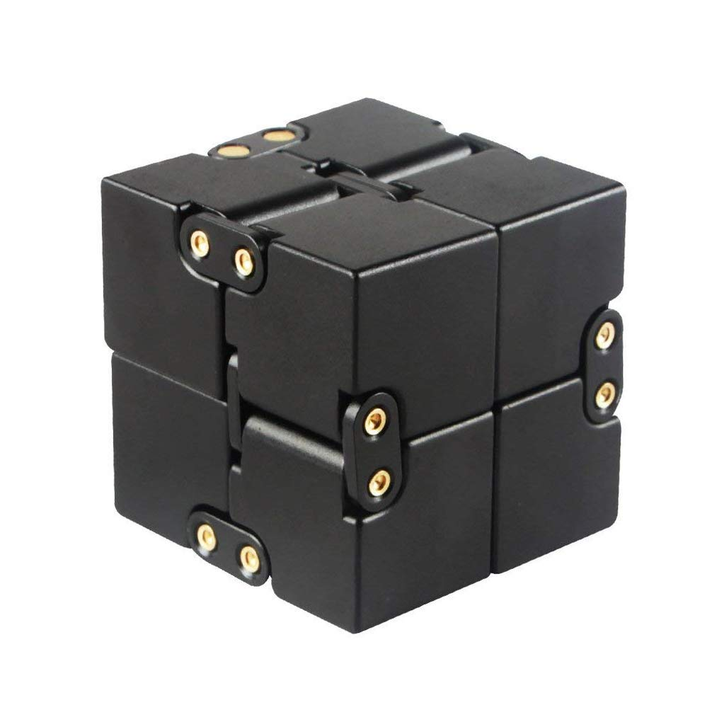 Metal Aluminum Infinity Cube Fidget Hand Spinner Finger Spin Toys Anti-Stress and Anxiety Relief, Killing Time Toys Great for Travel, Home, Office, School by Cytsj (Image #1)