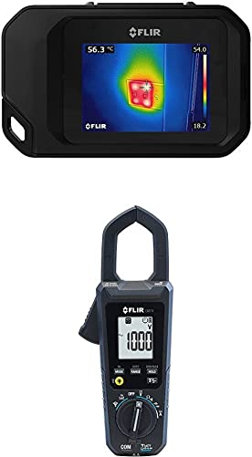 FLIR C3 Pocket Thermal Camera with WiFi with FLIR CM74 Commercial 600A AC DC Clamp Meter