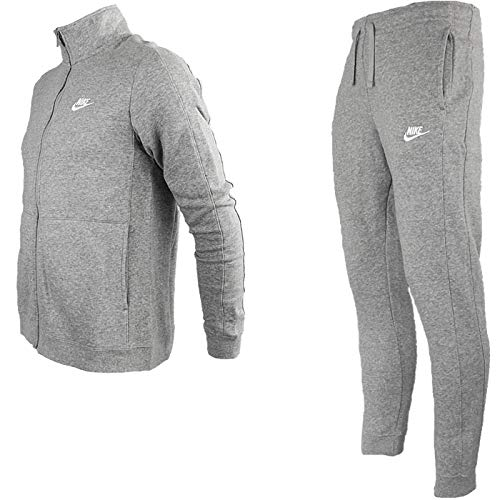 Grey white Suit Dk Flc Trk Heather Nike Tuta M Nsw Ce Uomo c1TxzgF