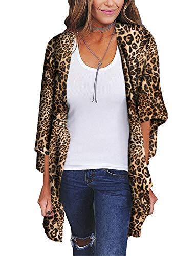 (Kimonos for Women Boho Style Open Front Beach Cover-Ups Chiffon Jacket Resort Wear Beach Wear (Medium))