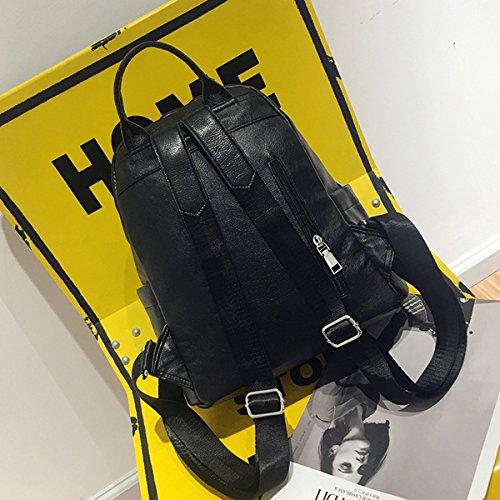 Backpack for Women - Bageek Black Backpack PU Leather Backpack Casual Backpack by Bageek (Image #4)