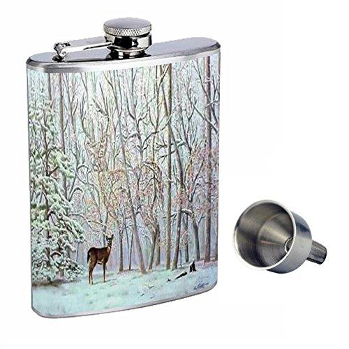 【2019春夏新作】 鹿Optical Perfection Illusion Hidden Perfection inスタイル8オンスステンレススチールWhiskey Flask Flask B015QLFTS0 with Free Funnel d-079 B015QLFTS0, 勝山町:d43c96a3 --- beautycity.in