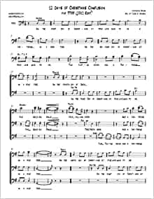 12 Days Of Christmas Sheet Music.The 12 Twelve Days Of Christmas Confusion Arranged For