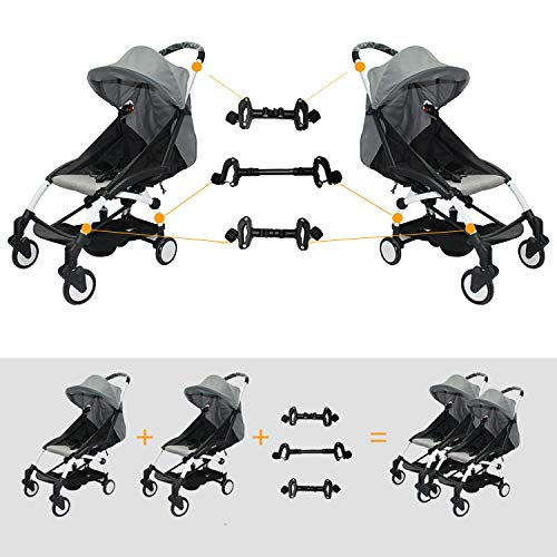 Twin Stroller Connectors, Transform Two Single Strollers into a Working Twin Stroller, Fits Most Strollers by ROMIRUS