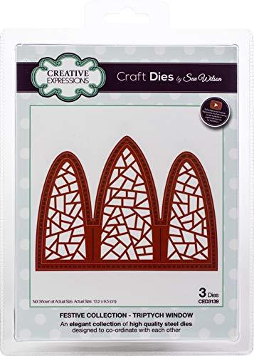 (Creative Expressions CED3139 Festive Craft Dies by Sue Wilson, Triptych Window)