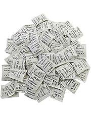 ECYC Kiselgel torkmedel påsar, kiselgel påsar, kiselgel påsar fuktabsorberande livsmedel avfuktare 100 paket (1 g/förpackning)
