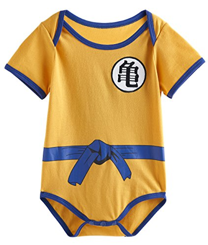 A&J Design Baby Boys' Goku Bodysuit Onesie (0-6 Months, Turtel) (Boys Halloween Clothes)