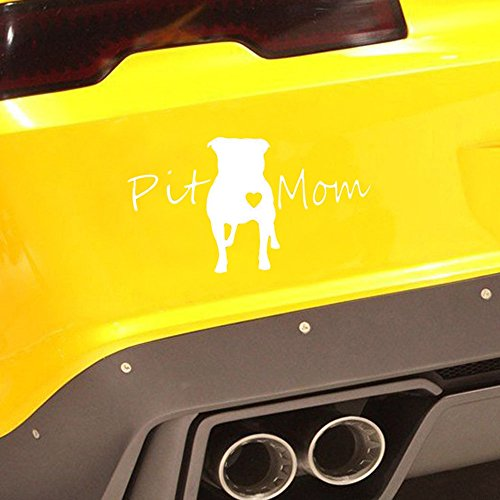 (Car Sticker,sakd Reflective Waterproof Pit Mom Pit Bull Pitbull Dog Decal Car Sticker Decoration,Picture Stickers Make Your car More Fashionable)