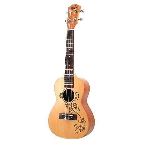 NUYI Ukulele 23/26 Pulgadas Guitarra Pequeña Panel De Abeto ...