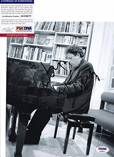 (Philip Glass Legendary Composer Signed Autograph 8x10 Photo PSA/DNA COA)